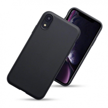 Husa silicon slim mat Iphone Xr negru 0