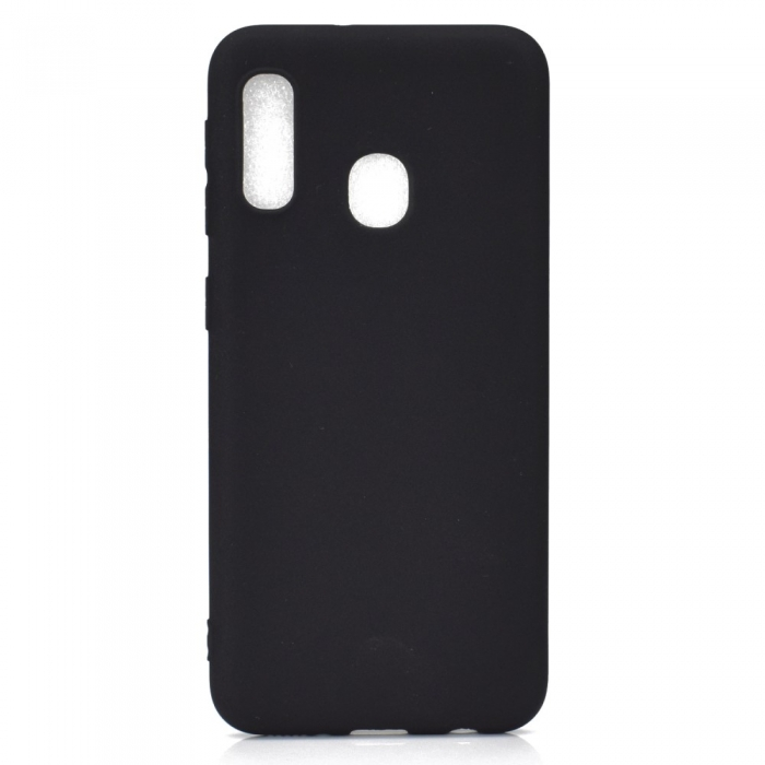 Husa silicon slim mat Samsung A20e - negru [0]