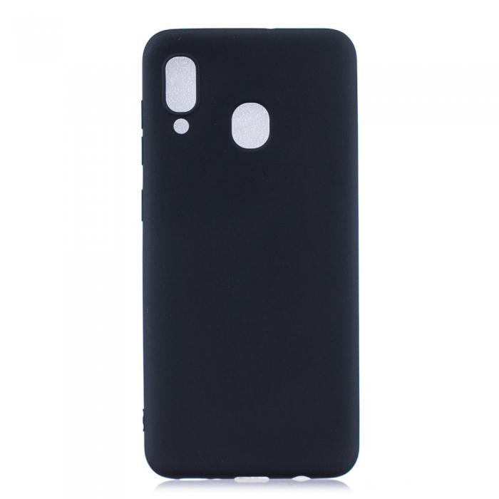 Husa silicon slim mat Samsung A40 - negru 0