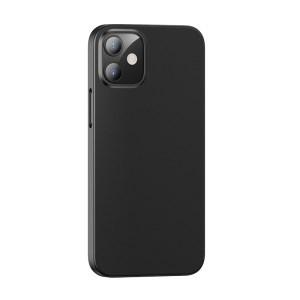 Husa silicon slim mat iPhone 12 Mini - Negru [0]