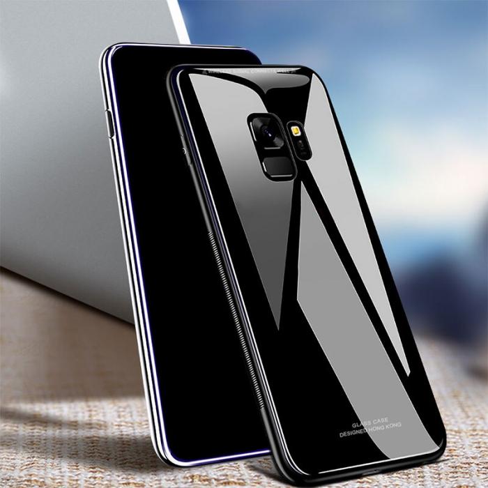 Husa silicon spate sticla Samsung S9 - 2 culori 0