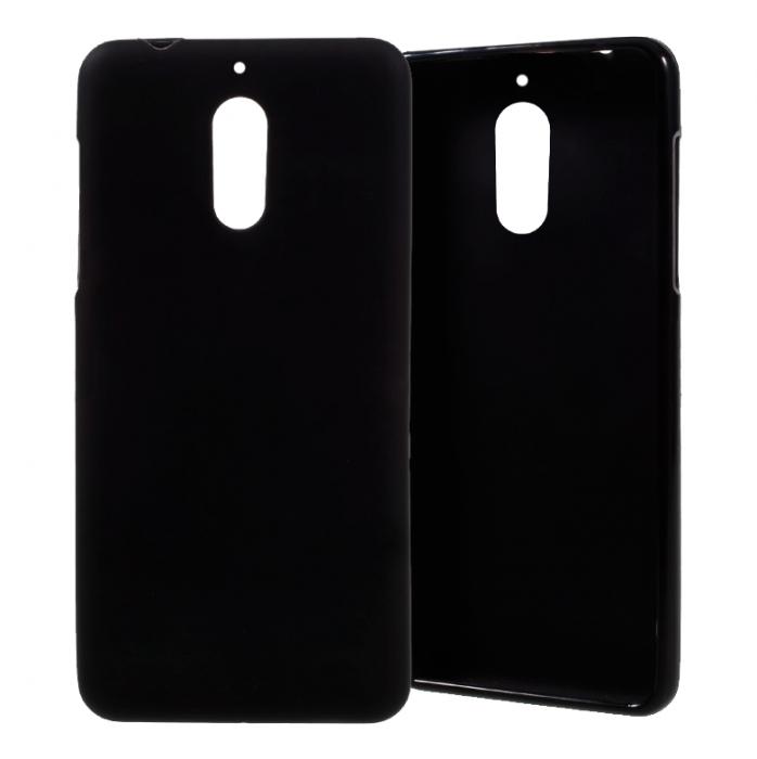 Husa silicon lucios Nokia 6 - negru 0