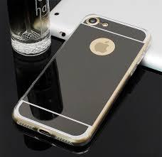 Husa silicon spate oglinda Iphone 7 gri 0