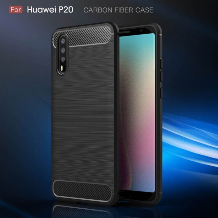 Husa silicon carbmat Huawei P20 lite 0