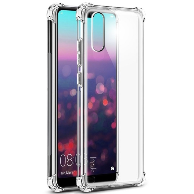 Husa silicon transparent anti shock Huawei P20 0