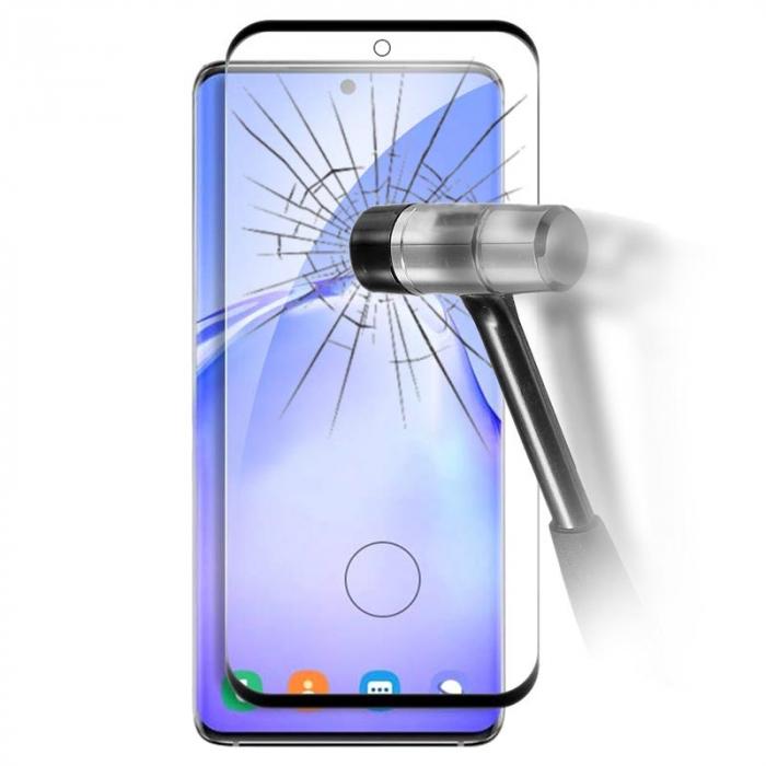 Folie sticla curbata edge glue Samsung S20 ultra, Negru 0