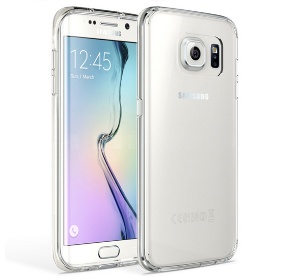 Husa silicon 1mm Samsung S6 edge transparenta 0