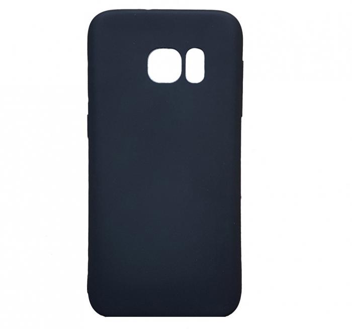 Husa silicon slim mat Samsung S7 edge negru 0