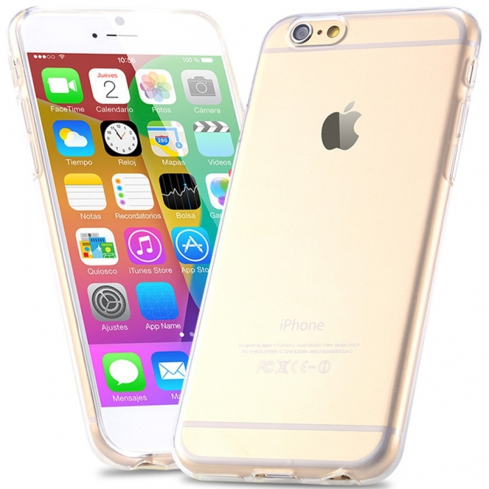 Husa silicon slim Iphone 6+ - transparent 0