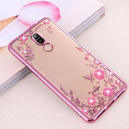 Husa silicon placata si pietricele Huawei Mate 20 lite - 2 culori1