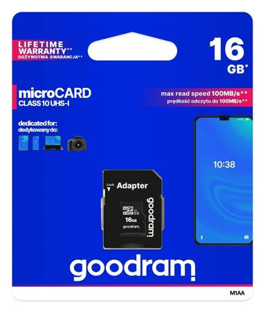 Card de memorie Goodram microSD 16GB (M1AA-0160R12) [0]