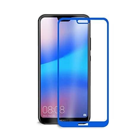 Folie sticla 3D Huawei P20 lite, Gold si Albastru1