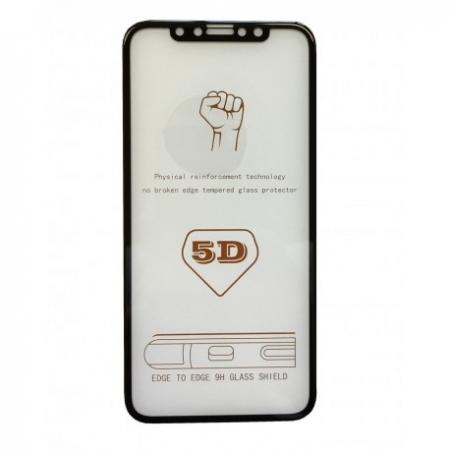 Folie sticla 5D Iphone X/Xs, Negru1