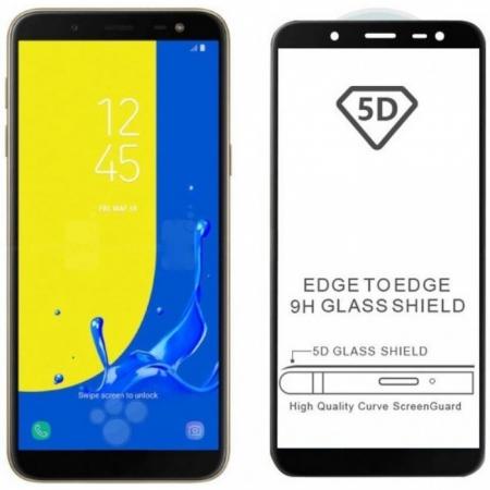 Folie sticla 5D Samsung A9 (2018) - negru [1]