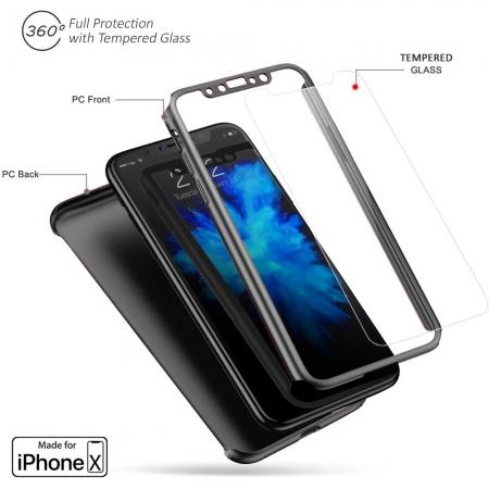 Husa 360 Iphone X/Xs - 5 culori0