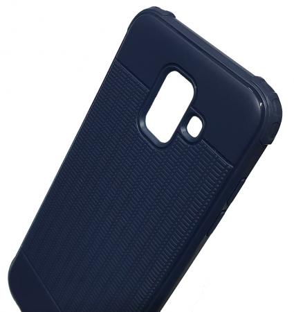Husa silicon anti shock cu striatii Samsung A6 (2018), Albastru1