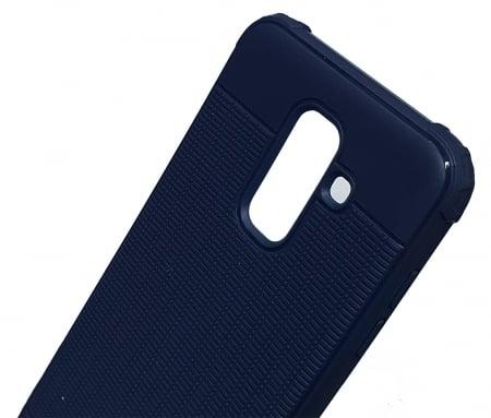 Husa silicon anti shock cu striatii Samsung A6 plus (2018), Albastru [1]