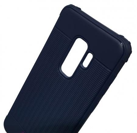 Husa silicon anti shock cu striatii Samsung S9+, Albastru [1]