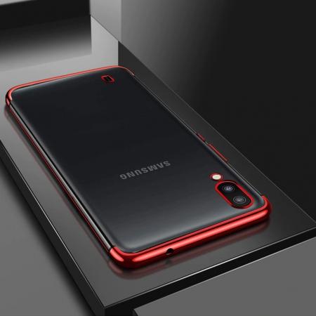 Husa silicon placat margini Samsung A10, Negru [1]