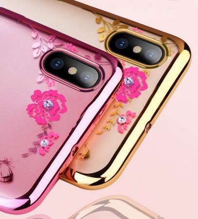 Husa silicon placata si pietricele Huawei Y7 (2019) - 2 culori1
