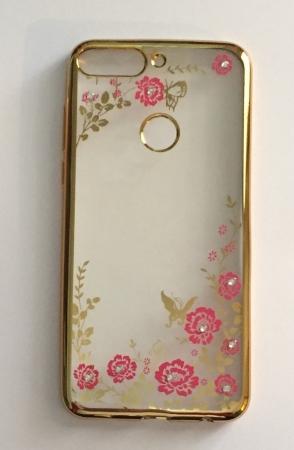 Husa silicon placata si pietricele Huawei Y7 Prime - 2 culori - Touch of luxury1