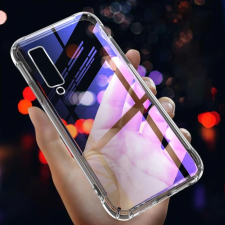 Husa silicon transparent anti shock Samsung A40 [0]