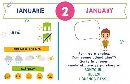 Calendarul meu anual: Invat limba engleza - de la 4 la 6 ani [4]