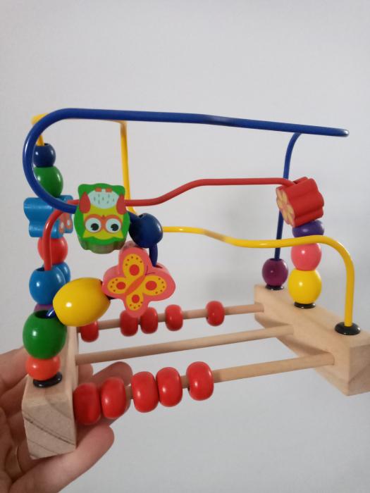 Circuit cu bile si abac - labirint motric 0