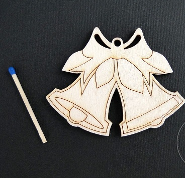 Figurina mini lemn - clopotel 0