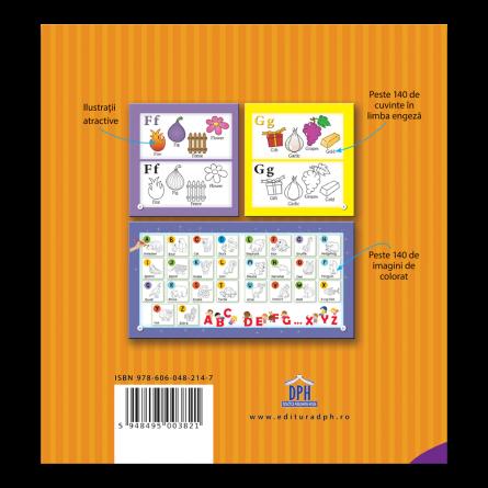 Coloreaza si invata alfabetul limbii engleze: Carte de colorat [1]