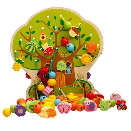Joc de snuruit copac cu fructe din lemn 102 piese 0