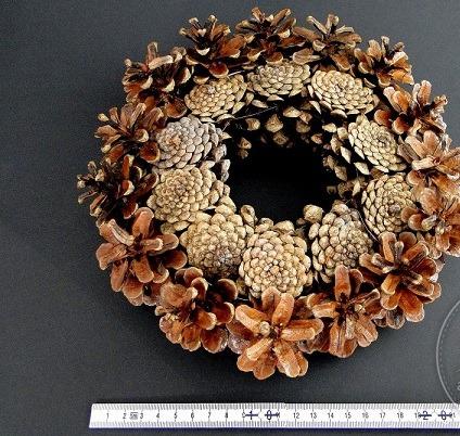Coronita din con de pin 30 cm [0]