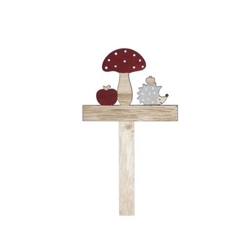 Decoratiune din lemn - mar, ciuperca, arici [0]