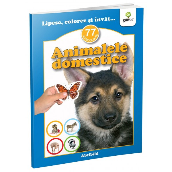 Animale domestice - abtibild - carte cu activitati [0]
