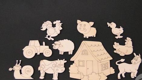 Set figurine lemn - ferma 0