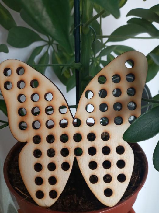Figurina lemn fluture - pentru cusut [0]