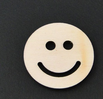 Figurina din lemn fata zambitoare - smiley [0]