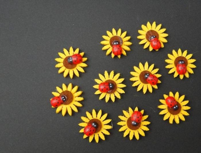 Floarea soarelui cu buburuza [0]