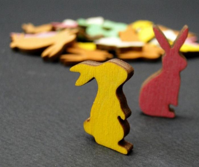 Figurine mini din lemn - iepurasi 1
