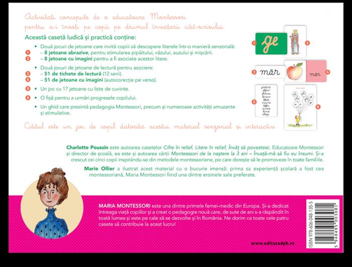 Invat sa citesc cu Montessori: 84 de Jetoane si 51 de tichete de lectura pentru a invata sa citesti foarte usor [1]