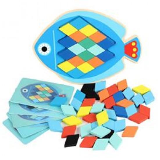 Joc tangram mozaic - puzzle in forma de peste [2]