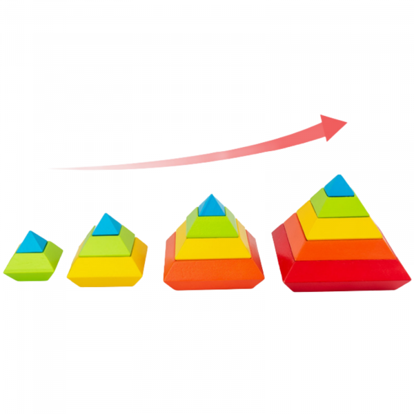 Piramida in stil Montessori - joc 3D curcubeu de construit [2]