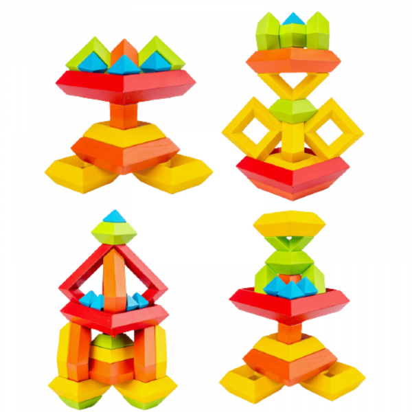 Piramida in stil Montessori - joc 3D curcubeu de construit [1]
