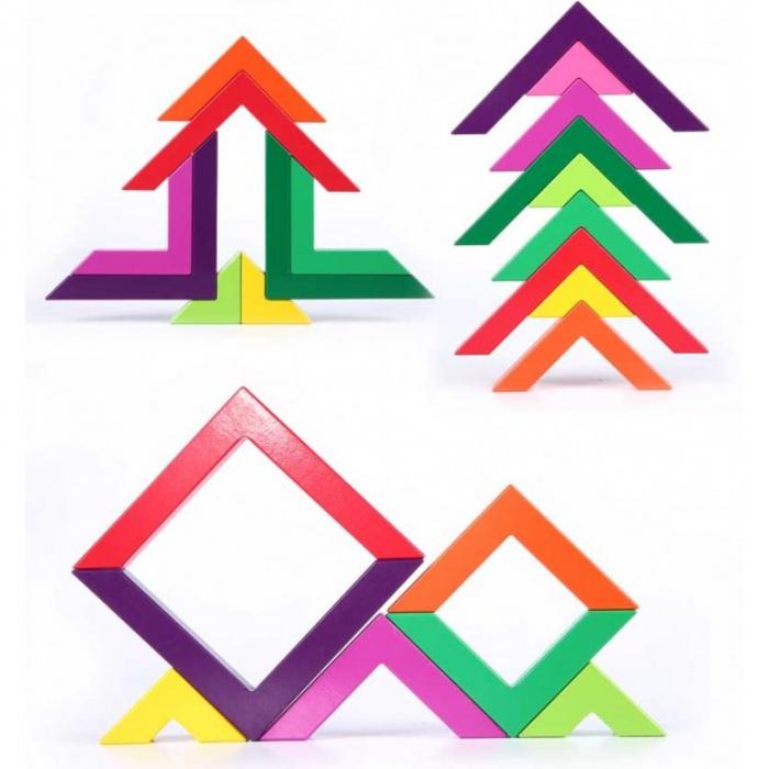 Set constructii lemn Matematice Spielmath - curcubeu [3]