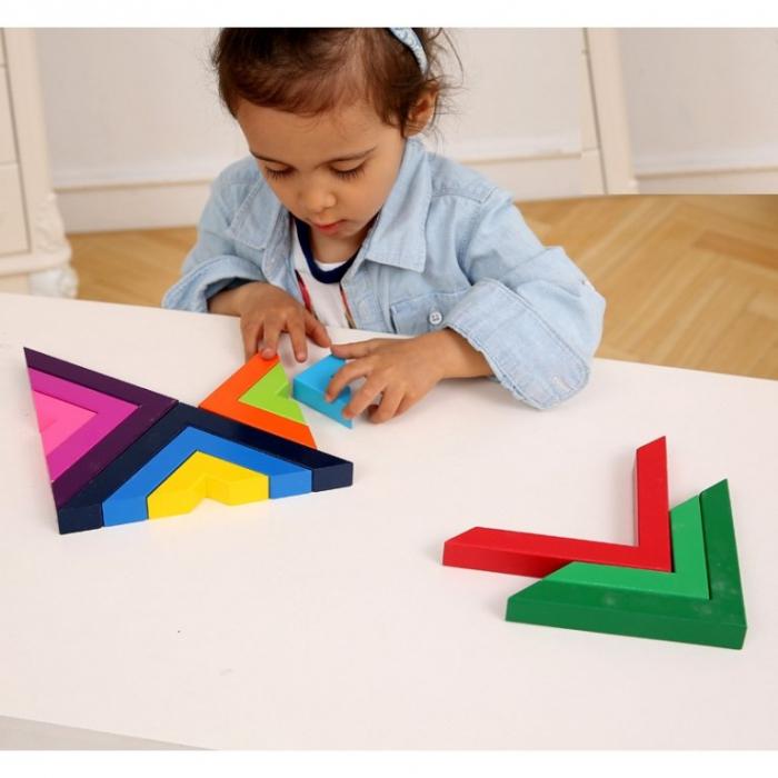 Set constructii lemn Matematice Spielmath - curcubeu [5]