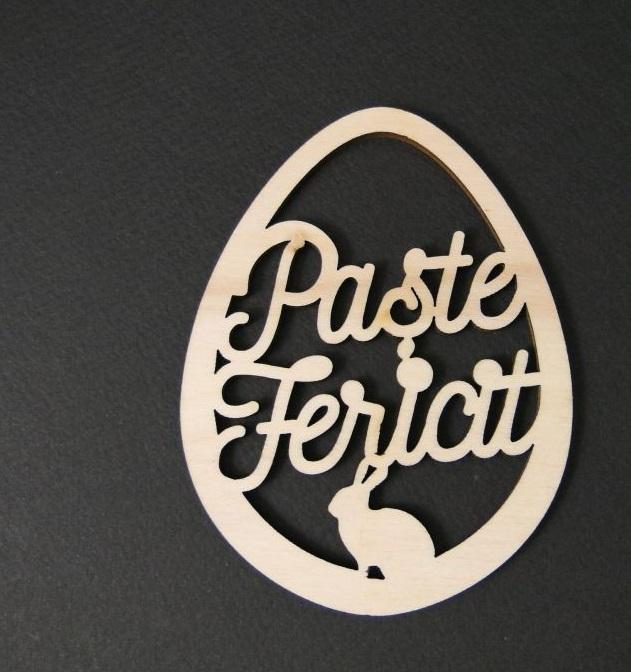 Figurina lemn ou - Paste fericit 0