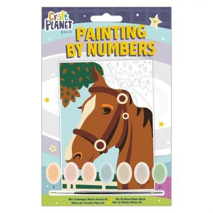 Pictura pe numere mini - cai 0