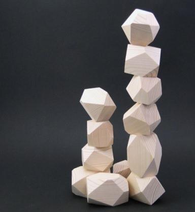 Set pietre echilibru din lemn 0