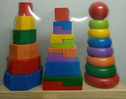 Piramida in stil Montessori 3 in 1 - forme geometrice de stivuit 3