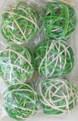 Plante uscate bile ratan - culoare alb-verde 0